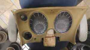 1974 corvette gauge cluster  and dash pad