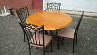 5 PIECE DINING SET - TABLE & 4 CHAIRS - GOOD SHAPE - DELIVERY
