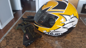 HJC Fusion II full face motorcycle helmet - Size Small 6.85-7 in