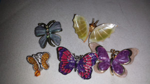 Butterfly pin lot of 5
