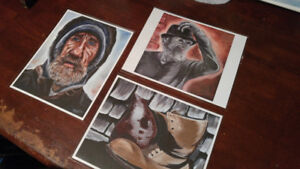 8X10 prints from local artist