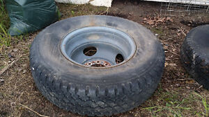 Dually tire and rim