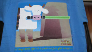 "COW WARS  ""Star Wars - episode one""  Cows t-shirt (1999)"