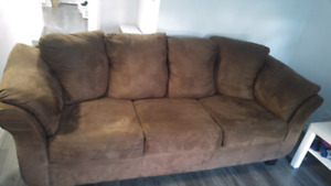 3 seat sofa/ couch dark brown