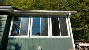Used windows for cottage or camp!