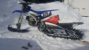 2014 YZ450F  with a YETI Snow MX Snowbike Kit