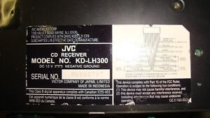 Car Stereo - CD Receiver - MP3/WMA - Colour Changing - JVC Cambridge Kitchener Area image 2