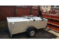 Anssems Trailer with hard top & 2 x fitted bike racks & 1 x wheel clamp