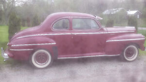 1947 MONARCH CANDY APPLE RED 2DR COUPE RUNS GREAT