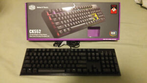 Selling Cooler Master CK552 keyboard with red switches