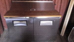"True 48"" refrigerated prep/sandwich table"