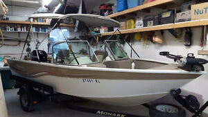 100 Hours! 2006 17' All Welded Aluminum Fishing Boat