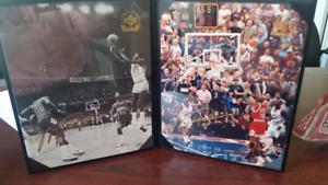 Micheal Jordan's First & Last NBA Shot Authenticated Upper Deck