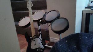 Guitare heros drum set n guitar