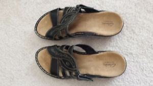 Women's Clarks Bendables Sandals, Size 12W