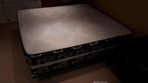 King Size Pillowtop Mattress - with frame and box spring - $300