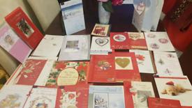 385 QUALITY CHRISTMAS cards mum dad girlfriend BIG fancy