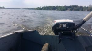 12' aluminum boat 10HP Evinrude engine