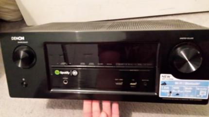 Denon Amp + 2 Polk Speakers - Home Stereo System