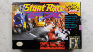 Stunt Race FX SNES Game Complete in Box