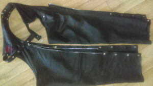 NATURAL RIDERS black leather CHAPS