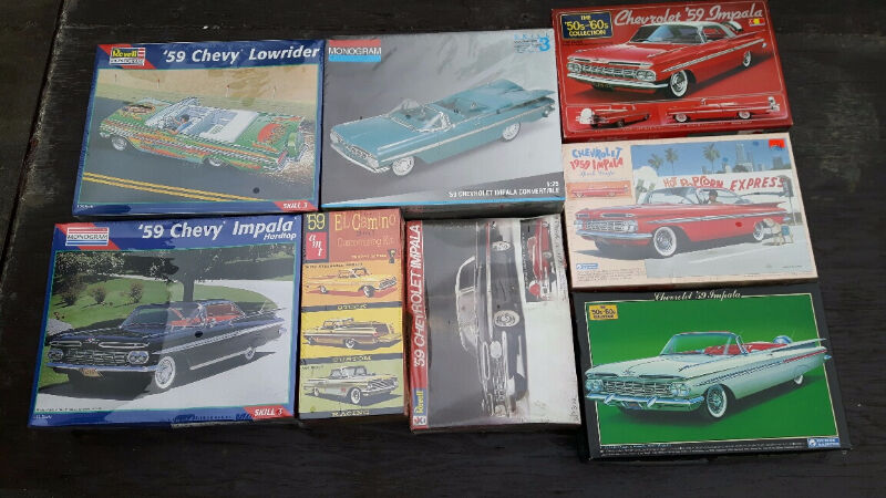 1959 Chevy Impala Model Kits 59 Chevrolet Plastic Scale Models Hobbies Amp Crafts Hamilton