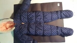 Snowsuit for 18month old. Blue with white polka  dots