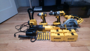 Dewalt 5 peice 18volt never been used with accessories
