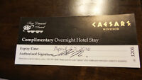 Caesars overnight stay