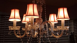 5 PINK CHANDELIER LAMPSHADES