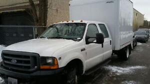 2001 Ford F550 XL camion utilitaire double cabine, essence