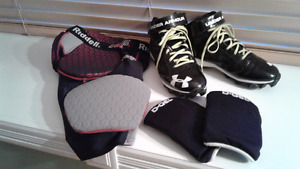 Football gear/ equipment shoes pant and knee pads