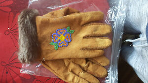 Real smoked moose hide gloves