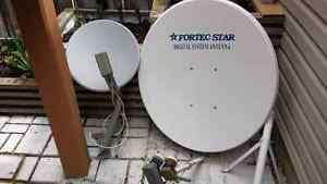 Two satellite dishes for sale $50