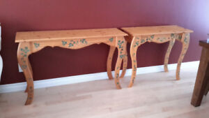 Pine wood couch tables