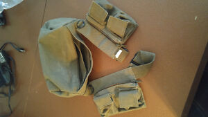 Selling coton military belt with pouches