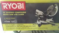"Never taken out of box 10"" compound miter saw with laser"