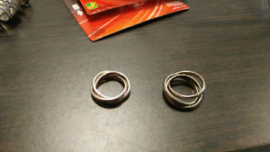 Silver rings size 6 and 10