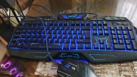 Gaming keyboard and mouse maxtek