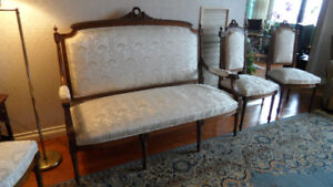 19th Century Antique Louis XVI Style Living Room Set