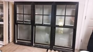 Double hung window 3in1