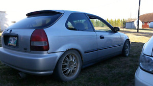 1999 civic dx hatch lowered summer/winters stereo