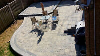Interlocking stone paver-nature stone-landscaping-deck-sodding
