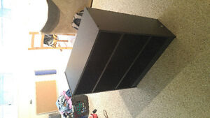 Wooden black bookcase, great condition