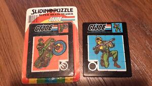 GI JOE VINTAGE SLIDING PUZZLES/1 NEW MIP / 1 USED 1983