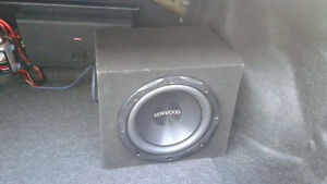 "Kenwood 10"" sub and Kicker amplifier for car."