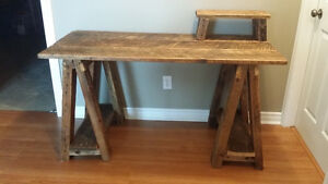 Unique work desk - made from reclaimed barn wood
