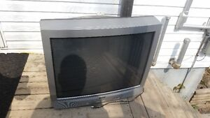 """two free 32"""" tvs and Kenwood tower speakers"""