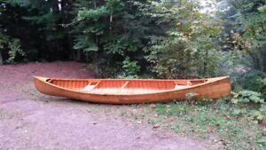 Cedar strip canoe excellent condition $800 Haliburton ON.