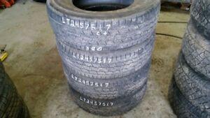 Set of 4 General Grabber HTS LT245/75R17 tires (65% tread life)